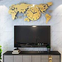 FYYYU Horloge Murale Carte du Monde 3D, Horloge De