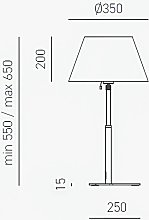 G.e.a.luce - Lampe de table moderne abat-jour gea