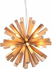 G9 Lampe Suspendue Bois Pissenlit Pendentif