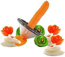 Gadgets de cuisine créatifs, trancheur à spirale