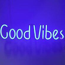GAESHOW Neon Light Good Vibes Mots Signes Lumière