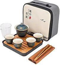 Gaiwan – service à thé Portable, 1 théière,