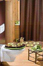 Galedo Rideau de Douche Textile Couleur Chocolat