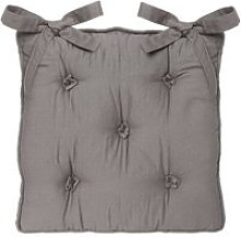 Galette de chaise 5 boutons - gris