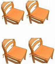 Galette de chaise antidérapante à nouer pour