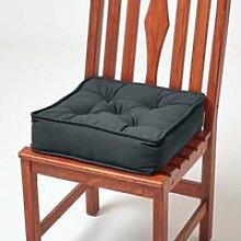 Galette de chaise coussin rehausseur en coton Gris