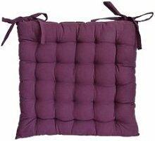 Galette de chaise en coton uni 40 cm 25 points