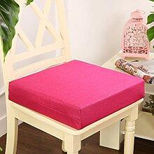 Galette de chaise épaisse en coton doux carré