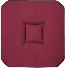 Galette De Chaise -panama- 36x36cm Bordeaux -