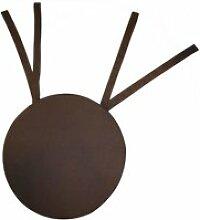 Galette de chaise ronde en coton 40 cm