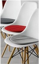 Galette de chaise Skandi rouge 38 x 38 x 2 cm Les