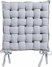 Galette de chaise Tressée - 40 x 40 cm - 40 x 40