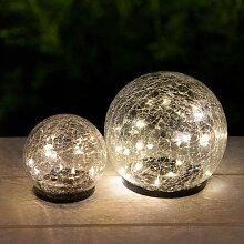 GALIX Boule lumineuse solaire en verre de qualité