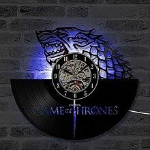 Game Of Thrones Horloge murale LED en vinyle 12