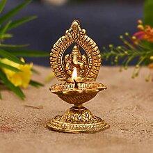 Ganesha Diya Lampe à huile faite à la main pour