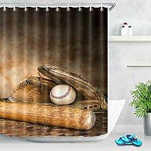 Gant de baseball en bois - Style rétro - Rideau