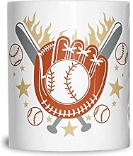 Gant De Baseball Tasse en céramique White 11OZ