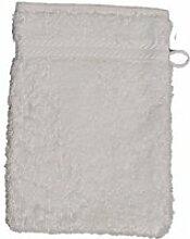 Gant de toilette 16 x 22 cm en coton couleur blanc