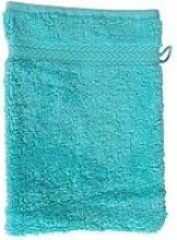 Gant de toilette 16 x 22 cm en coton couleur bleu