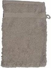 Gant de toilette 16 x 22 cm en coton couleur gris