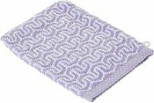 Gant de toilette 16x21 cm graphic hook violet