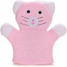 Gant de toilette chat enfant bébé
