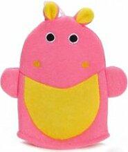 Gant de toilette hippopotame enfant bébé