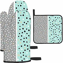 Gants de cuisine et maniques avec motifs