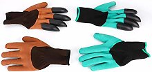 Gants de jardin avec griffes, 2 paires de gants de
