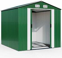 Gardebruk - Abri de jardin en métal vert 14,65m³