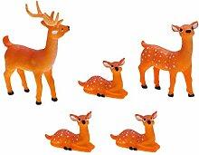 Garneck Lot de 5 figurines de cerf pour gâteau -
