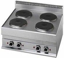GASTROMASTRO Cuisinière électrique 4 plaques