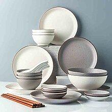 GAXQFEI 26 pièces Ens vaisselle, japonais Dinning