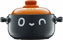 GAXQFEI Casseroles Pot de Riz En Argile Pour Gaz,