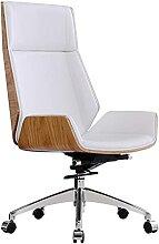 GAXQFEI Chaise D'Ordinateur Chaise Blanche,