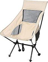 GAXQFEI Chaise de Camping, Chaise de Dos Pliante