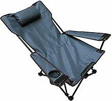 GAXQFEI Chaise de camping pliable, chaise longue