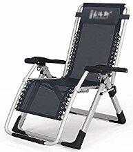 GAXQFEI Chaise de camping pliante inclinée, zéro