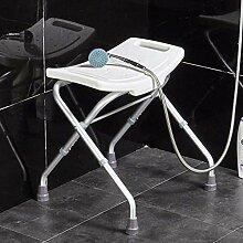 GAXQFEI Chaise de Douche Pliable Blanche Tabouret