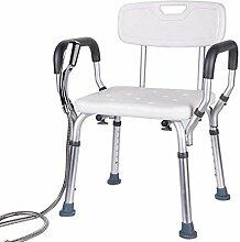 GAXQFEI Chaise de N Avec Siège de Douche Robuste,