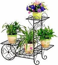 GAXQFEI Étagère à fleurs à 4 étages en métal