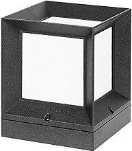 GAXQFEI Ip54 Étanche Aluminium Post Lamp Square