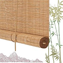 GAXQFEI Natural Window Roller Blind, Carbonisation