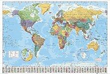 GB Eye, Carte du monde 2015 Poster géant en bois