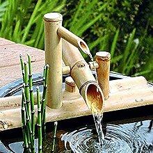 gbnh Fontaine de jardin en bambou avec pompe,