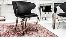 gdegdesign Chaise fauteuil baroque velours noir