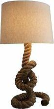 gdegdesign Lampe à poser design corde marron avec