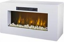 gdegdesign Meuble TV cheminée blanc décoratif