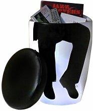 gdegdesign Tabouret bas design noir et blanc