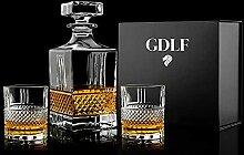 GDLF® Set de 3 carafes à whisky de luxe dans une